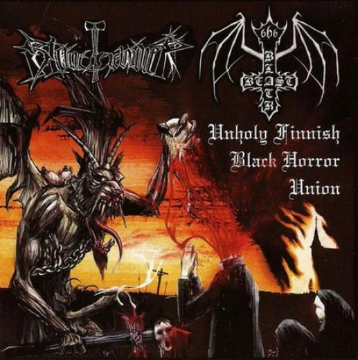 Bloodhammer / Black Beast - Unholy Finnish Black Horror Union (LP)