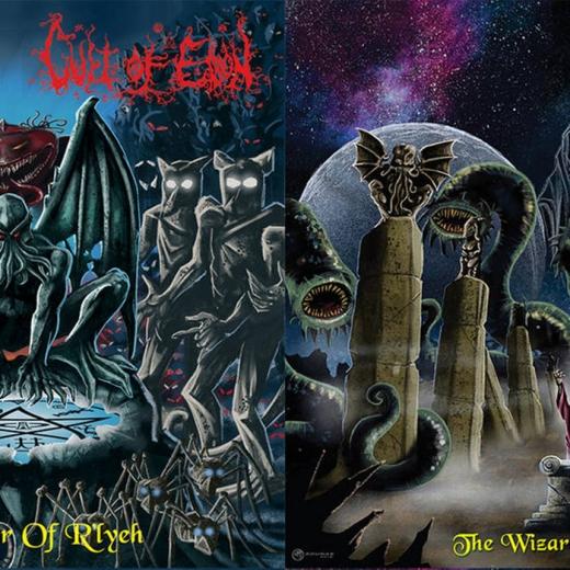 Caedes Cruenta / Cult Of Eibon - The Wizard Of Yaddith / The Sleeper Of Rlyeh (EP)