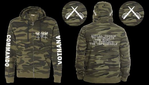 Vothana - Commando (Full Zip Camo Hooded Sweat Jacket)