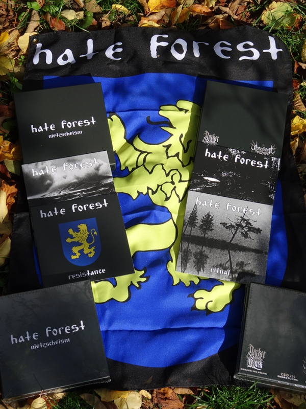 Afbeeldingsresultaat voor Hate Forest - Nietzscheism (4 x EP-Box Set)